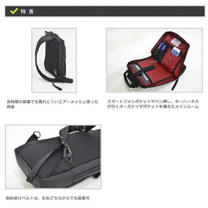 ボディーバッグ ショルダーバッグ ウエストポーチ 2-023 NEOPRO RED ボディバッグ 軽量 カジュアル 送料無料 EDWIN小銭入れプレゼント ideal-bag 02