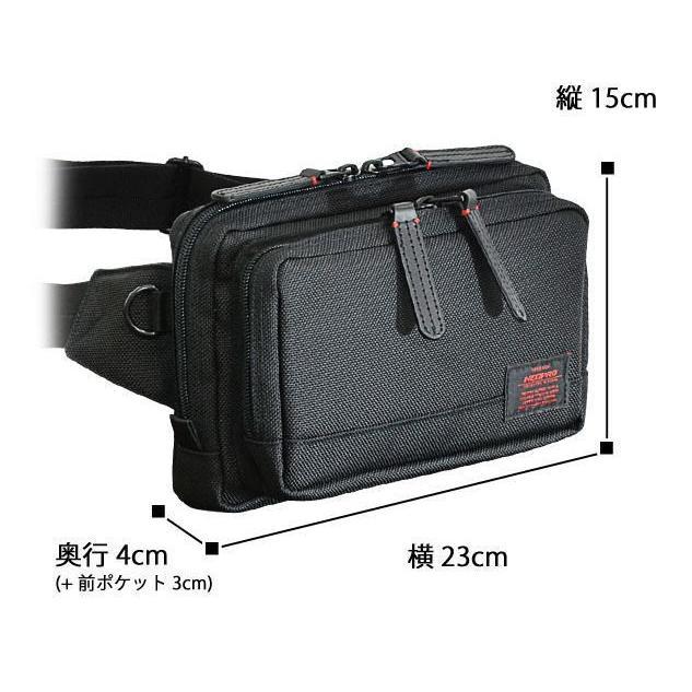 ウエストポーチ 2-070 NEOPRO ネオプロ 機能充実 ウエストバッグ  ショルダー トラベル  軽量 プレゼント 鞄 誕生日 かばん カバン 父の日 送料無料|ideal-bag|07