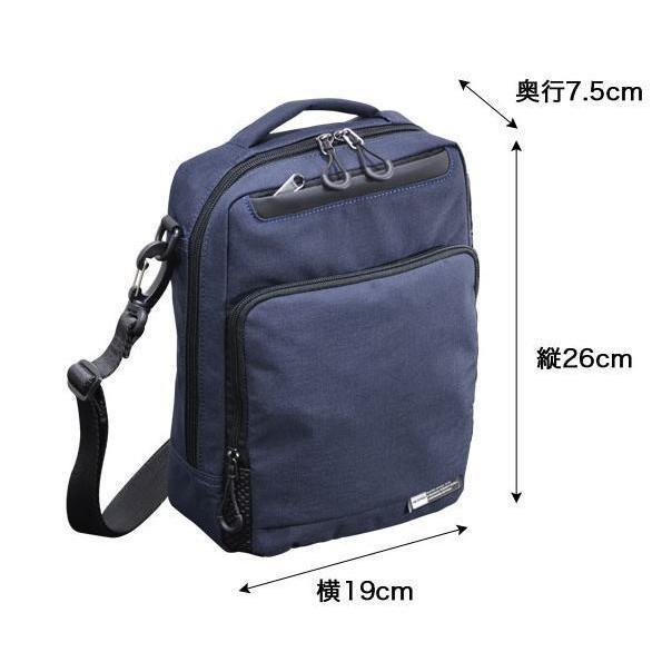 ショルダーバッグ  縦型ショルダー NEOPRO KARUXUS 2-087 ポケット収納 撥水加工 軽量 堅牢 メンズ かばん カバン 鞄 プレゼント ギフト 誕生日  送料無料|ideal-bag|13