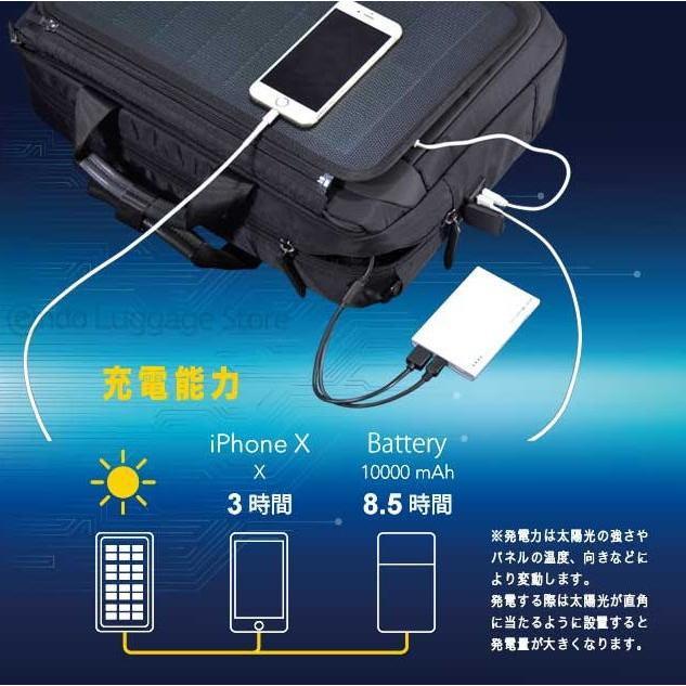 ビジネスバッグ 2Wayブリーフ NEOPRO Solar Drive 2-860 太陽光発電変換効率17%パネル搭載 ソーラーパネル  メンズ かばん カバン 鞄 プレゼント   送料無料 ideal-bag 04