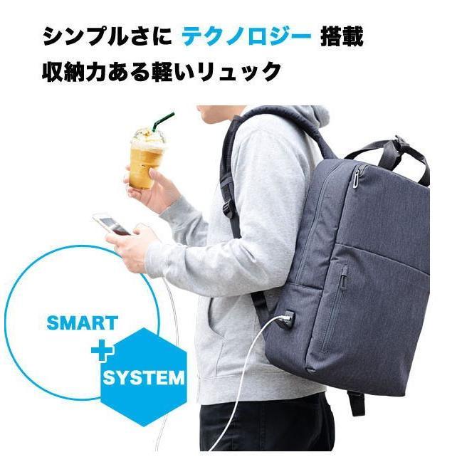 リュック ビジネスバッグ 2-820 Plus Narrow プリュス ナロー USBコネクター ビジネスバッグ リュック 軽量 かばん カバン父の日 送料無料 ideal-bag 02
