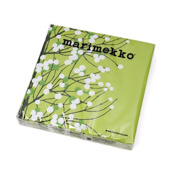 マリメッコ ペーパーナプキン NEW ARRIVAL ルミマルヤ ライトグリーン marimekko LUMIMARJA 20枚入り 33x33cm 高品質新品