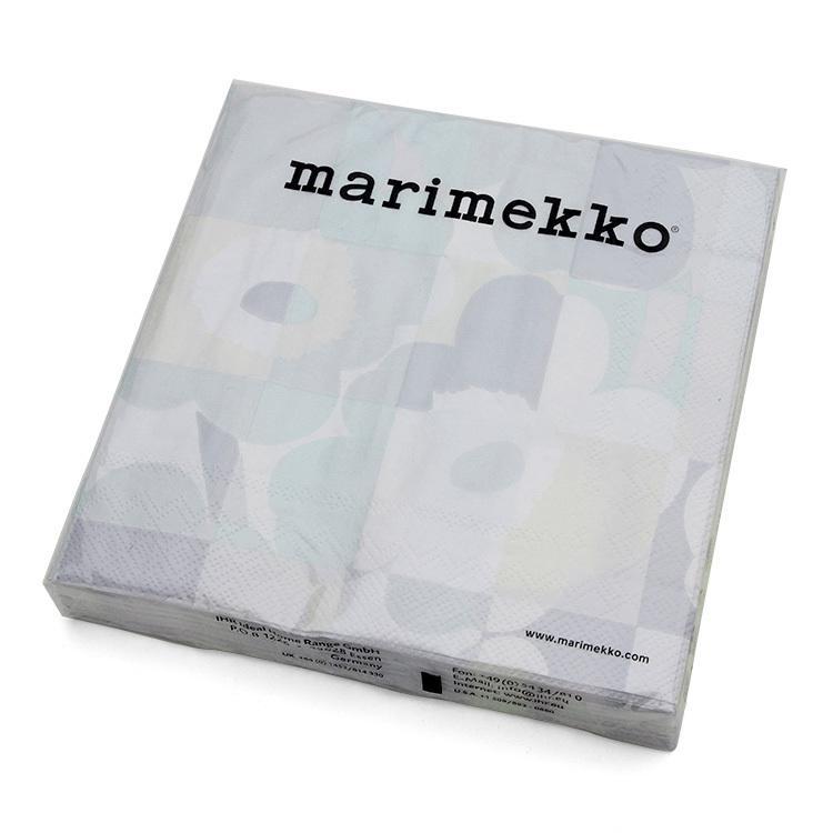 マリメッコ ペーパーナプキン ミニ 保障 ルートゥ ウニッコ ライトグレー 33x33cm UNIKKO 新品 送料無料 marimekko MINI 20枚入り RUUTU