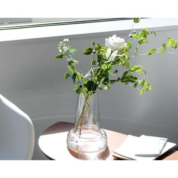 ホルムガード フローラ ベース 格安店 24cm ロング クリア 毎週更新 vase Holmegaard Flora