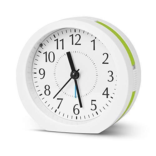 目覚まし時計 置き時計 15曲メロディ 卓上時計 連続秒針 クロック アナログ式 新入荷 流行 大音量 高品質新品 シンプル スヌーズ クオーツ おしゃれ 静か 電池
