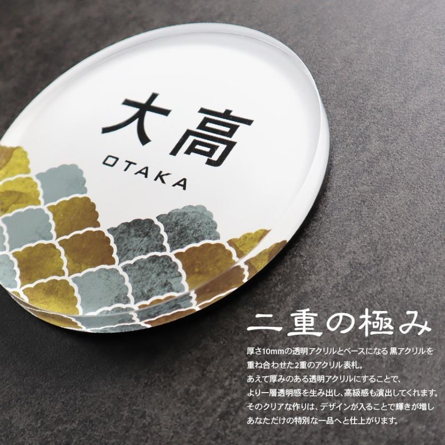 表札 シール アクリル おしゃれ 貼る 屋外対応 2重アクリル表札 Crystal Plate ideamaker 17