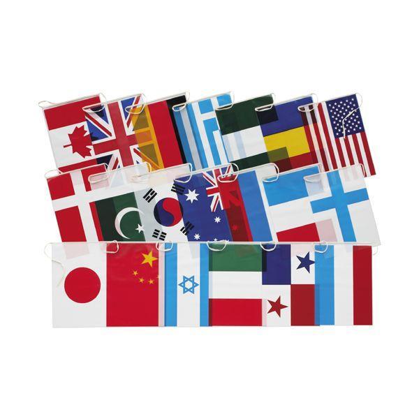 万国旗 ビニール連続万国旗(大) 10m、20カ国付 ポリエチレン製 ideashopshowa