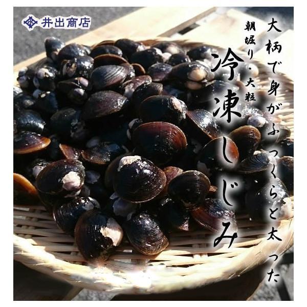 朝堀り・大粒 冷凍しじみ1kg(1パック) |ideshoten
