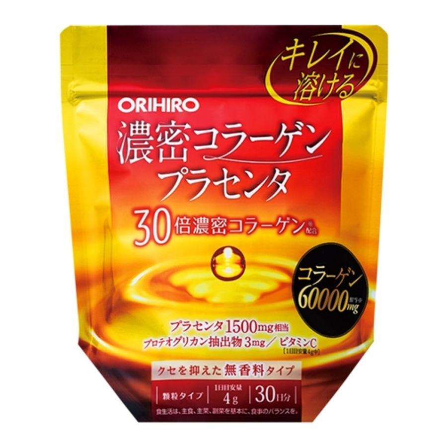 送料無料 オリヒロ ORIHIRO 濃密コラーゲンプラセンタ 120g プロテオグリカン抽出物 ビタミンC 無香料 デキストリン 美容 健康 サプリメント idkshop