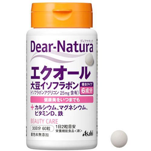 ディアナチュラ エクオール 大豆イソフラボン 60粒 Dear-Natura 送料0円 鉄 カルシウム セール商品 マグネシウム アサヒグループ食品 健康美 ビタミンD サプリ サプリメント
