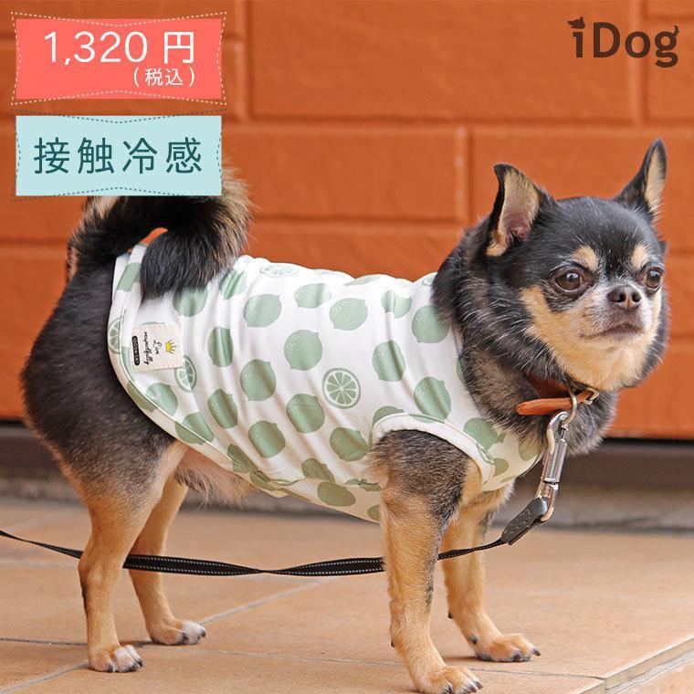 犬 服 セールiDog COOL Chill レモンタンク 接触冷感 メール便OK 夏 犬の洋服 犬服 ペット服 プードル チワワ ダックス|idog|02