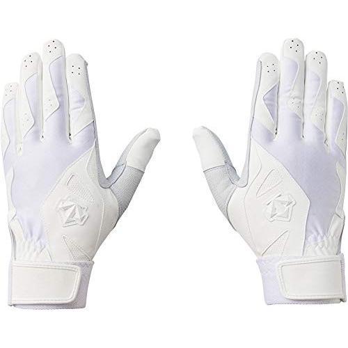DESCENTE(デサント) 野球 バッティンググローブ (高校野球対応) 両手用 ホワイト M DBBNJD10