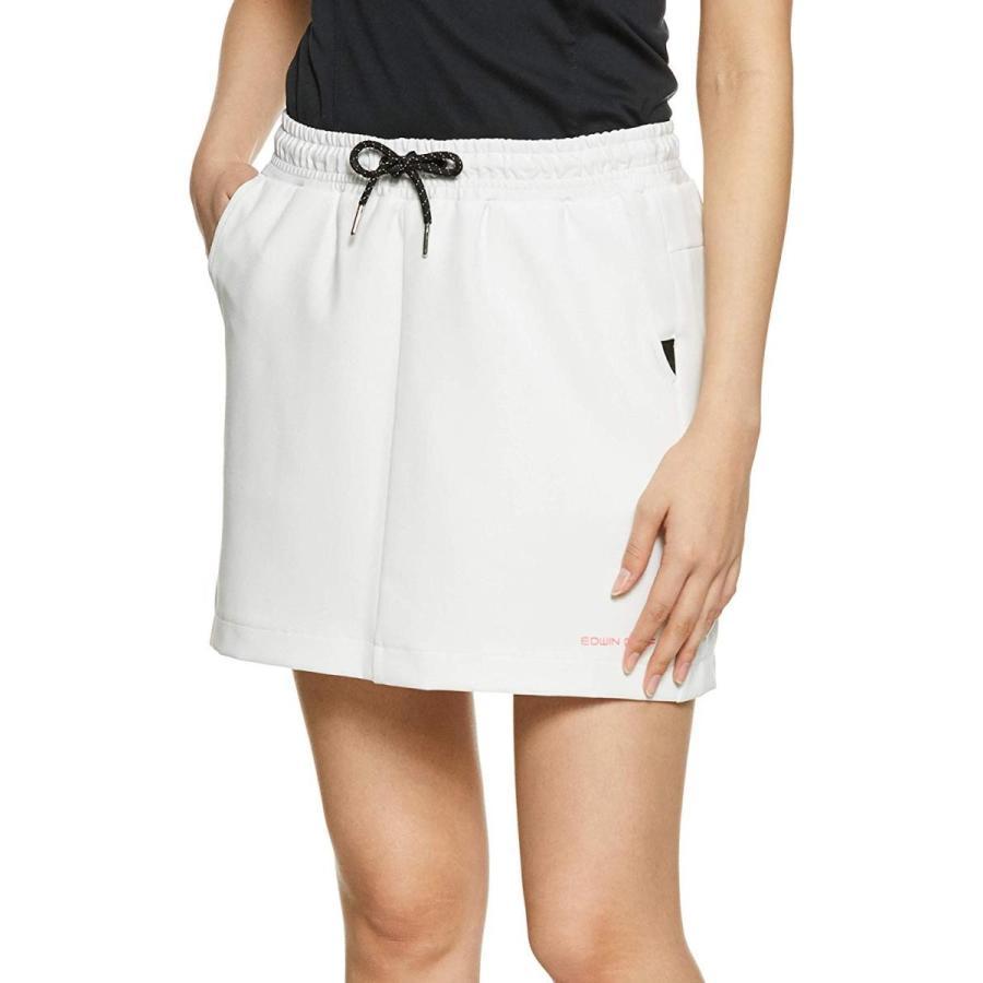 エドウィン ゴルフ スカート EG19S3040 ホワイト 日本 L (日本サイズL相当)