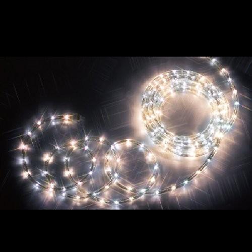 ジェフコム LEDソフトネオン ロッド(40mmピッチ) 16m 白×電球色 PR3S-E24-16WL