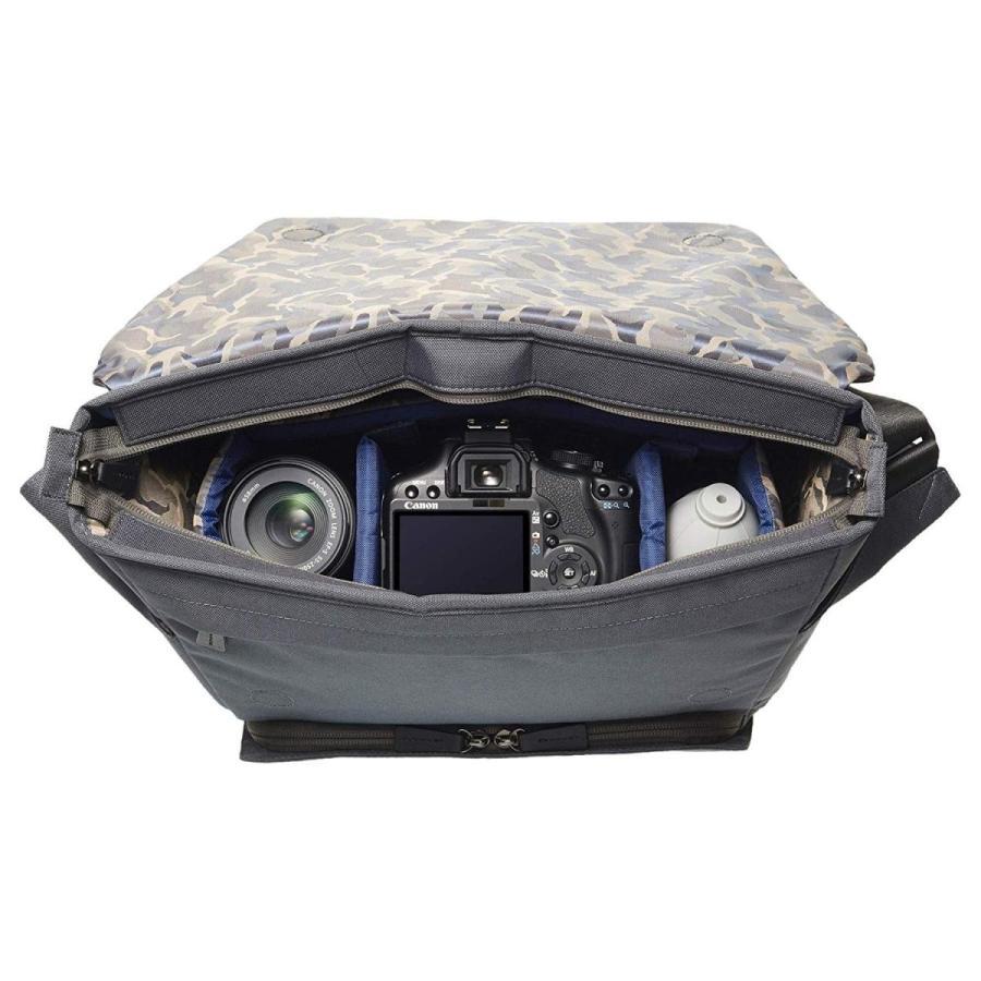 HAKUBA カメラバッグ LUXXe(ラグゼ) ポリゴン メッセンジャー インナーケース式 小型一眼レフカメラ用 グレー SLX-PLMS