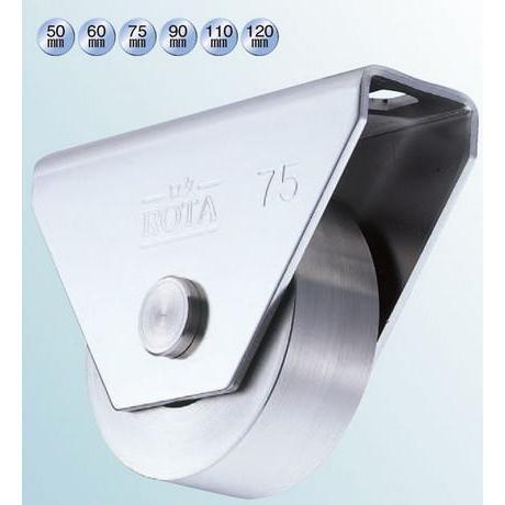 ヨコヅナ WBS-1202 ロタ・ステン重量戸車 120 平 (2個入)