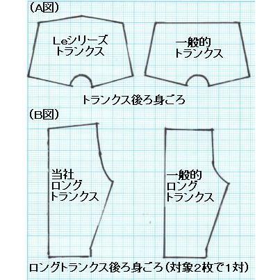 トランクス メンズ 下着 Leトランクス 日本製 送料無料 黒色 (S M L LL) 綿100% 前開き|if-store|03