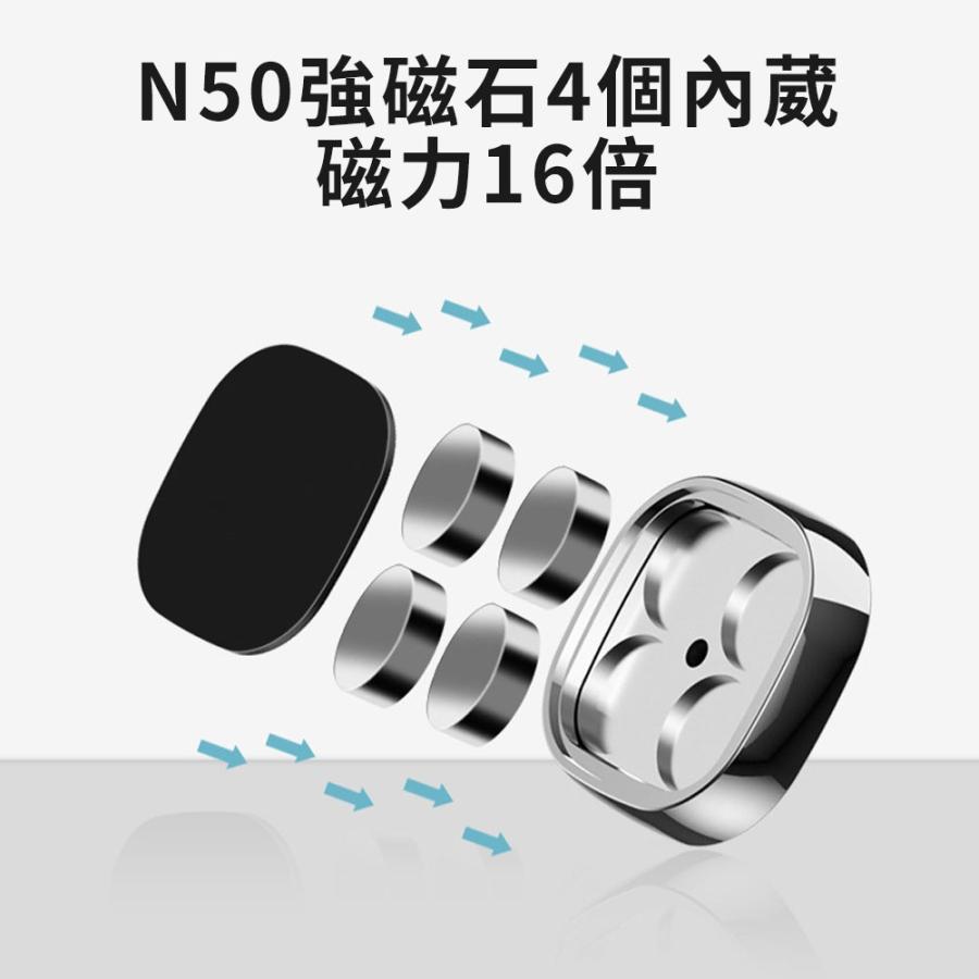 スマホホルダー 車 車載 マグネット 車載ホルダー iPhone スマホ ダッシュボード Android スマホスタンド 磁石 携帯ホルダー|igenso|04