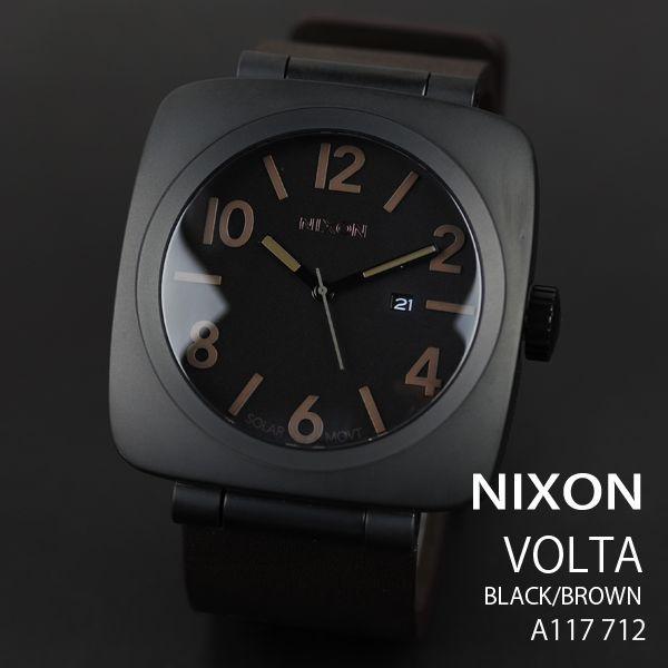 eee3dfb850 ニクソン 時計 nixon 時計 NIXON 腕時計 A117-712 A117712 VOLTA ヴォルタ ブラック/ブラウン ソーラー