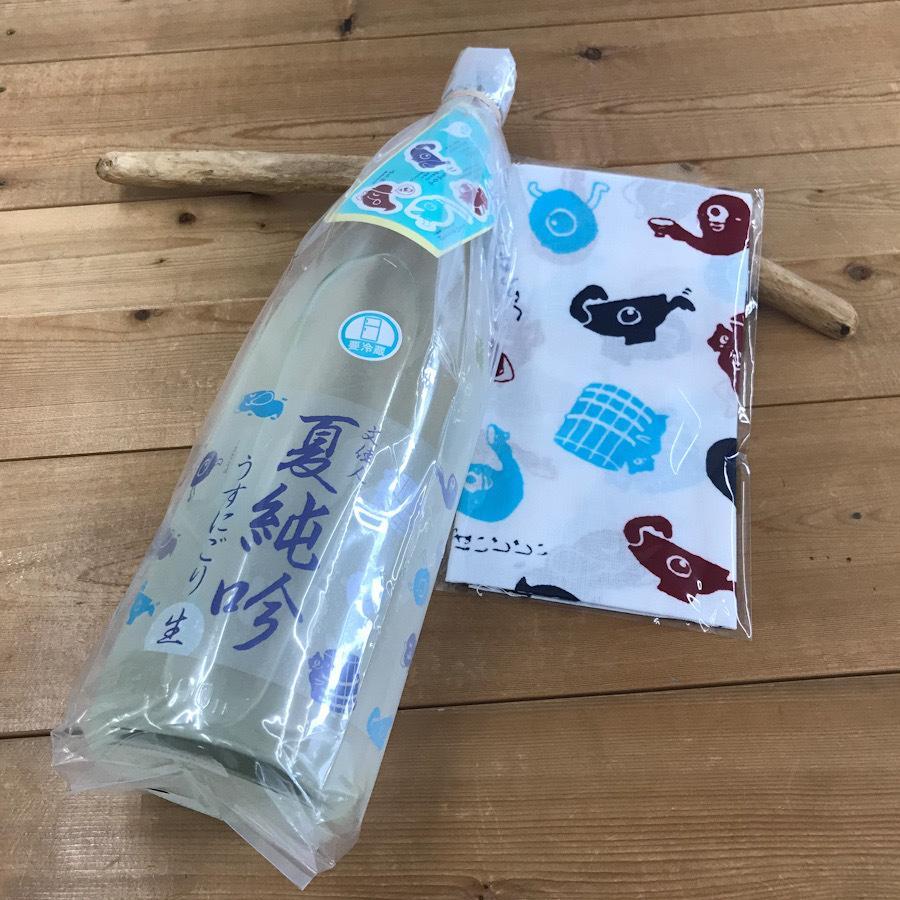 日本酒 高知 文佳人 夏純吟うすにごり 生 1800ml+てぬぐい セット (summer)(おばけ)|igossou-sakaya|02