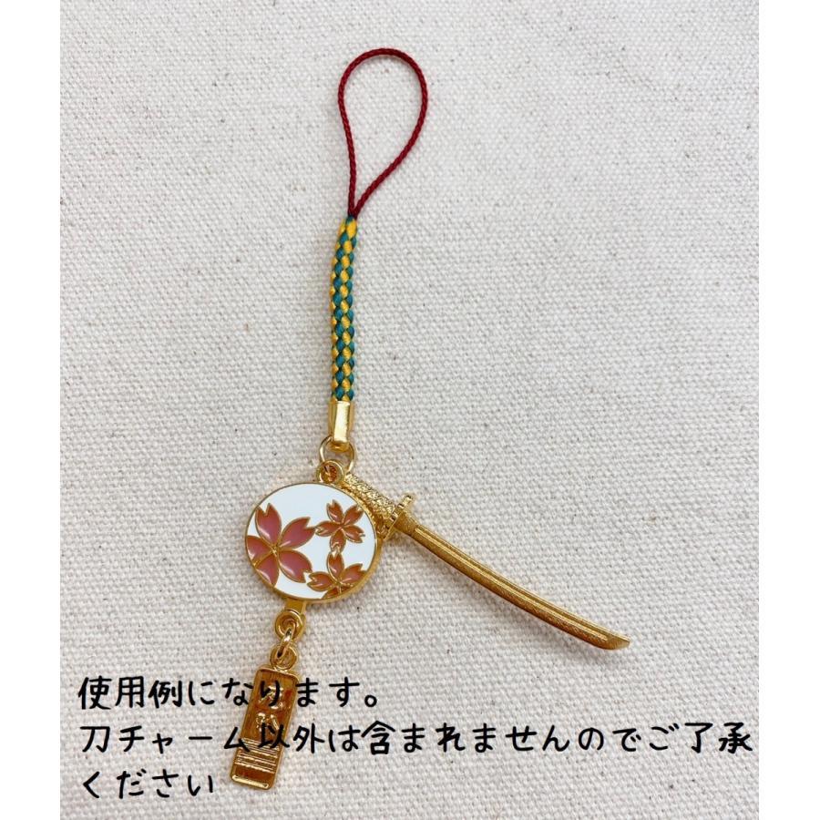 メタルチャーム 日本刀+カニカン付き 1個 DM便OK iguchi-co-ltd 06