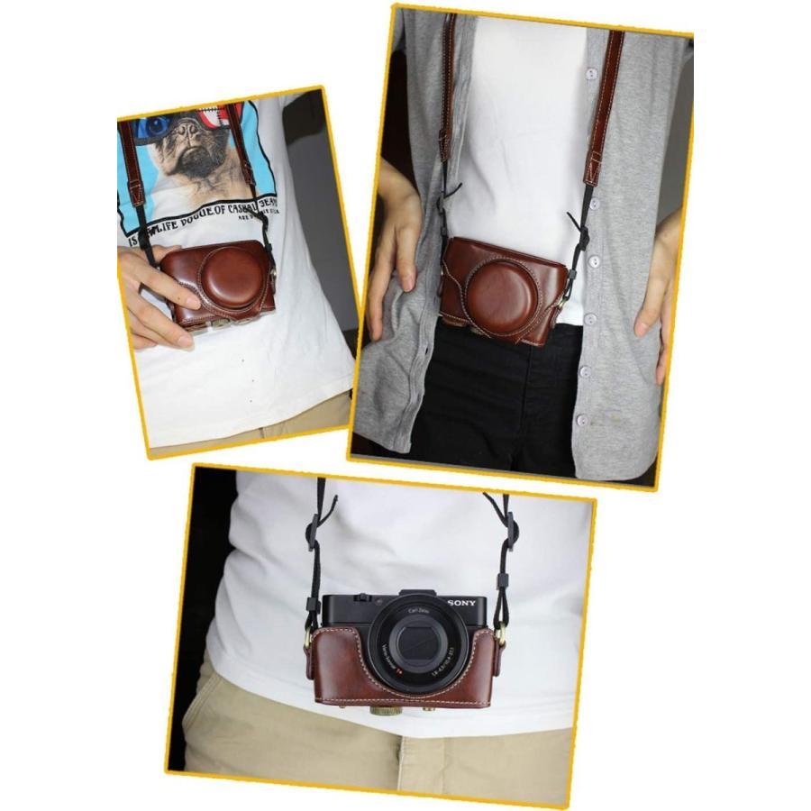 カメラケース Cyber-shot RX100 M2 M3 M4 M5 カメラバック ミラーレス一眼 DCS-RX100シリーズ DSC-RX100M ihatov2020 09