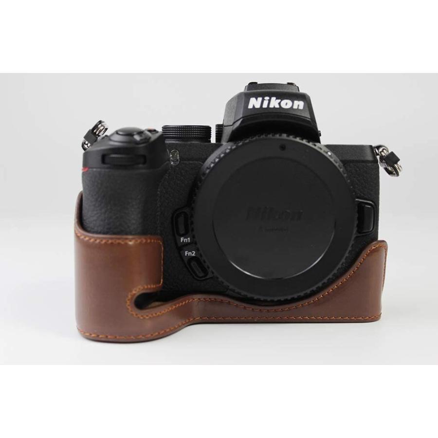 対応 Nikon ニコン PEN Z50 カメラバッグ カメラケース 、Koowl手作りトップクラスのPUレザーカメラハーフケース、Nikon ニコン|ihatov2020