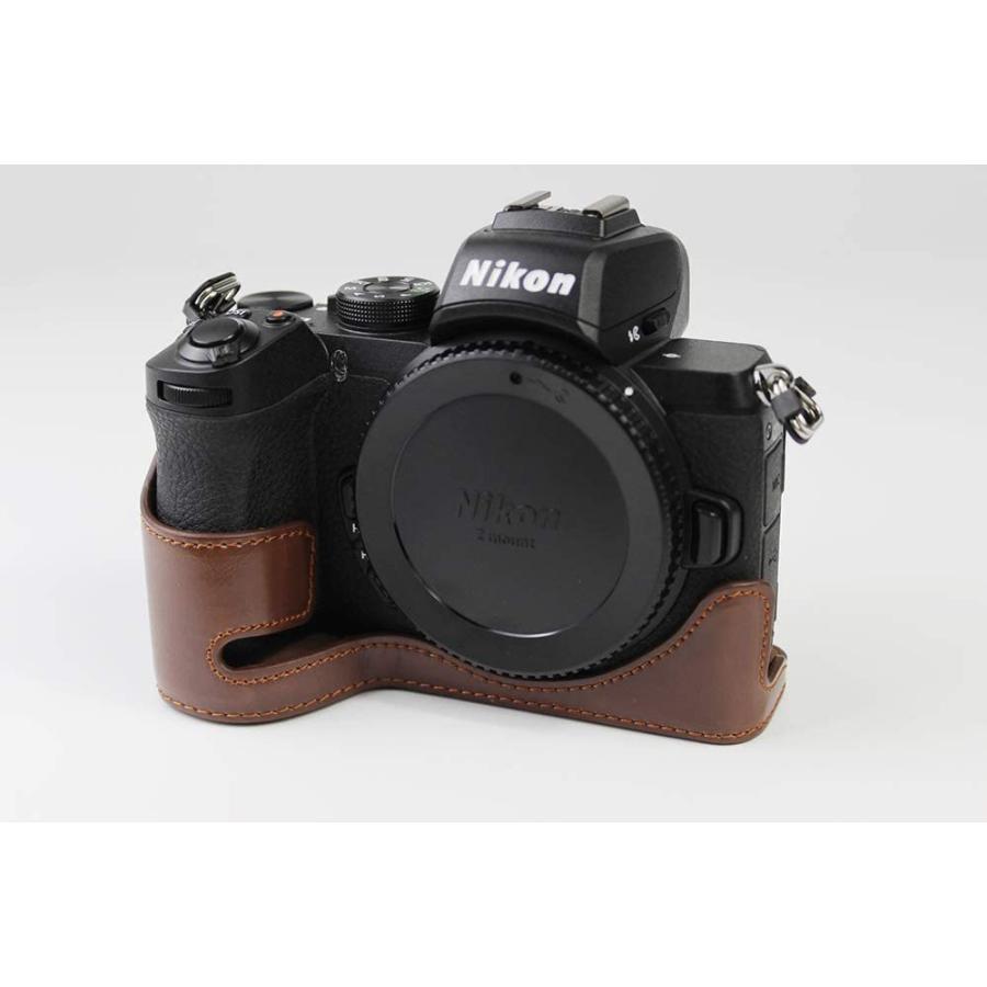 対応 Nikon ニコン PEN Z50 カメラバッグ カメラケース 、Koowl手作りトップクラスのPUレザーカメラハーフケース、Nikon ニコン|ihatov2020|03