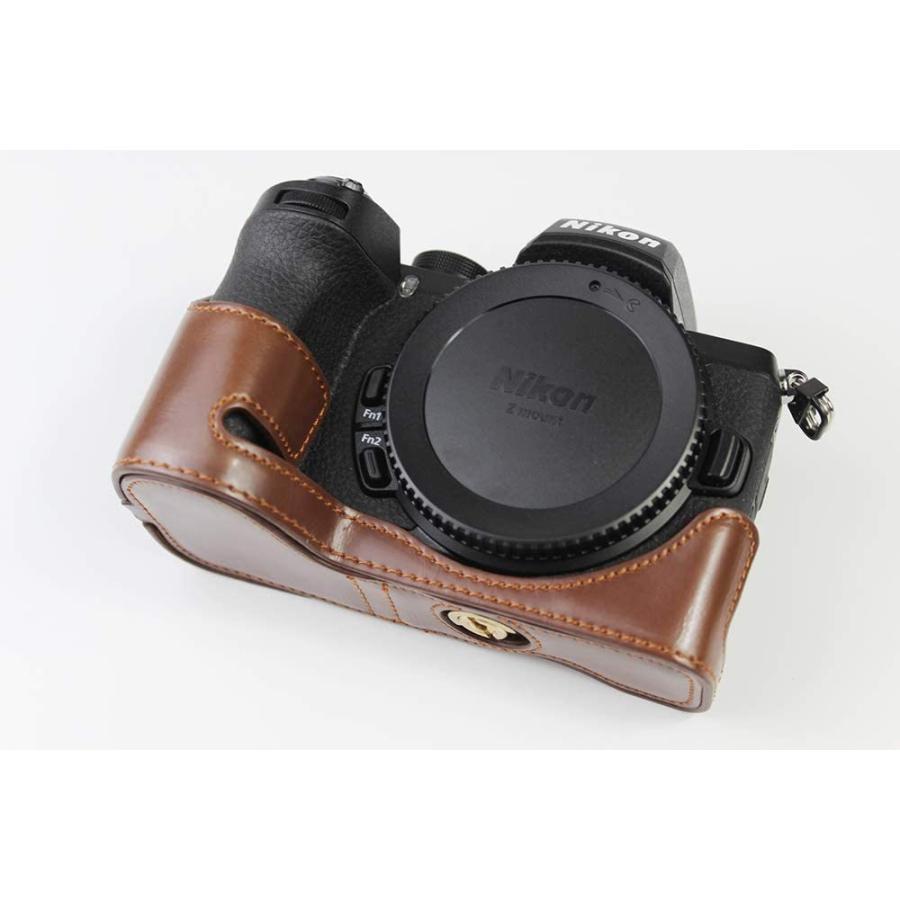 対応 Nikon ニコン PEN Z50 カメラバッグ カメラケース 、Koowl手作りトップクラスのPUレザーカメラハーフケース、Nikon ニコン|ihatov2020|04