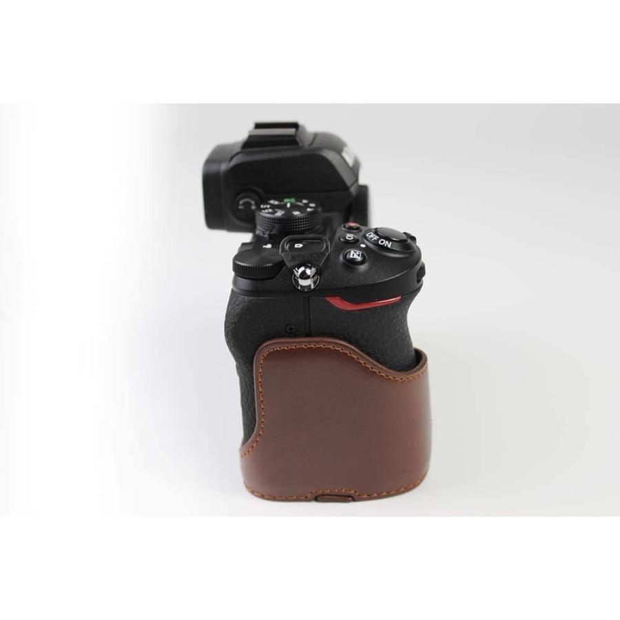 対応 Nikon ニコン PEN Z50 カメラバッグ カメラケース 、Koowl手作りトップクラスのPUレザーカメラハーフケース、Nikon ニコン|ihatov2020|05