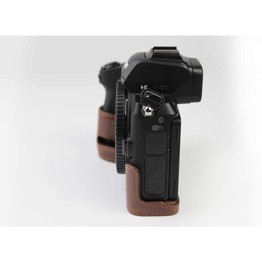 対応 Nikon ニコン PEN Z50 カメラバッグ カメラケース 、Koowl手作りトップクラスのPUレザーカメラハーフケース、Nikon ニコン|ihatov2020|06