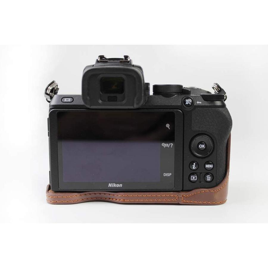 対応 Nikon ニコン PEN Z50 カメラバッグ カメラケース 、Koowl手作りトップクラスのPUレザーカメラハーフケース、Nikon ニコン|ihatov2020|07