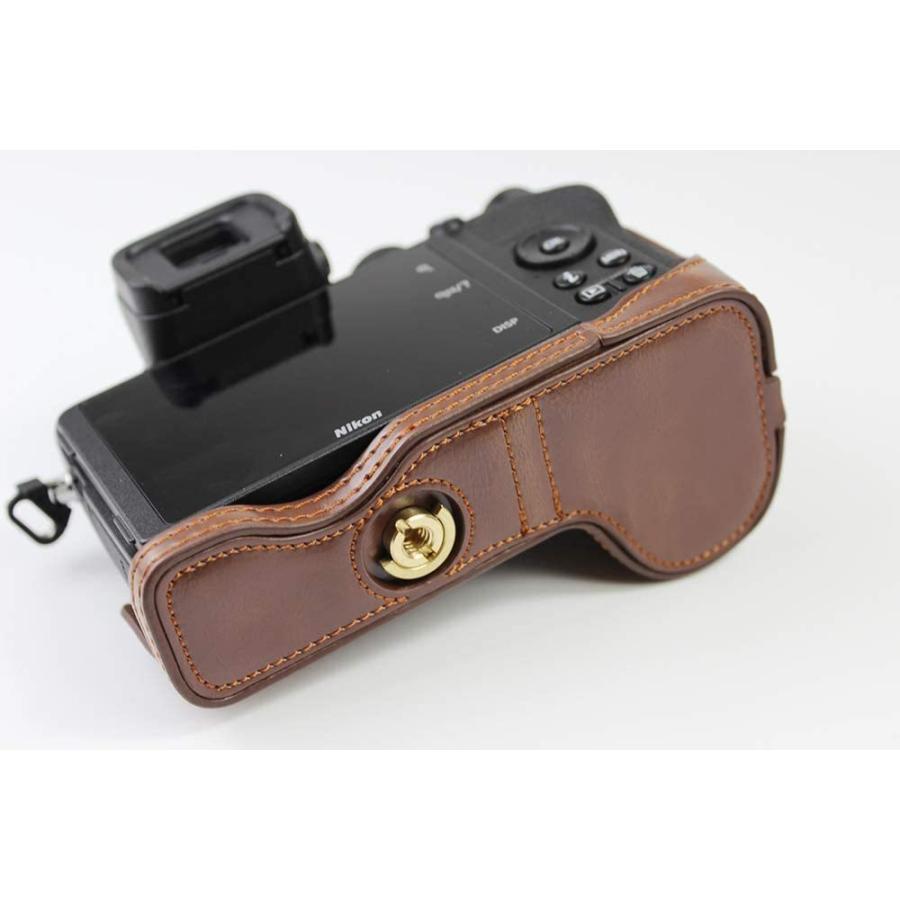 対応 Nikon ニコン PEN Z50 カメラバッグ カメラケース 、Koowl手作りトップクラスのPUレザーカメラハーフケース、Nikon ニコン|ihatov2020|08