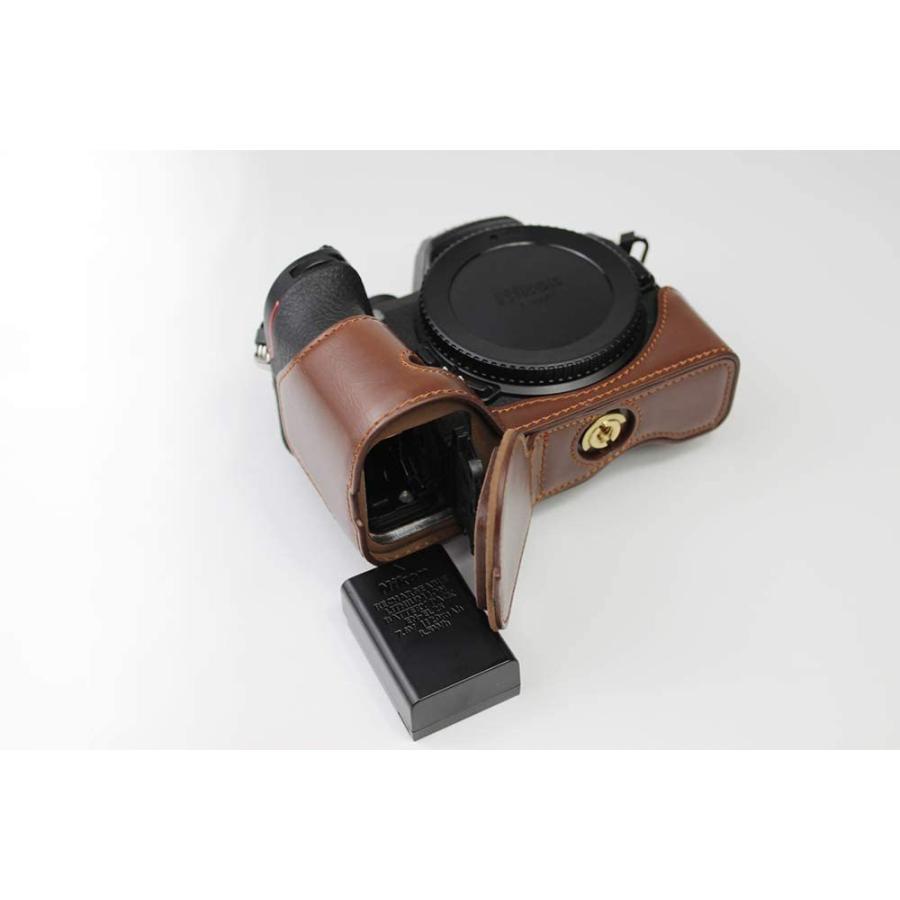 対応 Nikon ニコン PEN Z50 カメラバッグ カメラケース 、Koowl手作りトップクラスのPUレザーカメラハーフケース、Nikon ニコン|ihatov2020|09