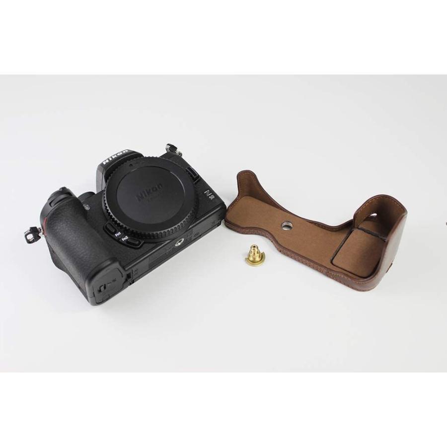 対応 Nikon ニコン PEN Z50 カメラバッグ カメラケース 、Koowl手作りトップクラスのPUレザーカメラハーフケース、Nikon ニコン|ihatov2020|10
