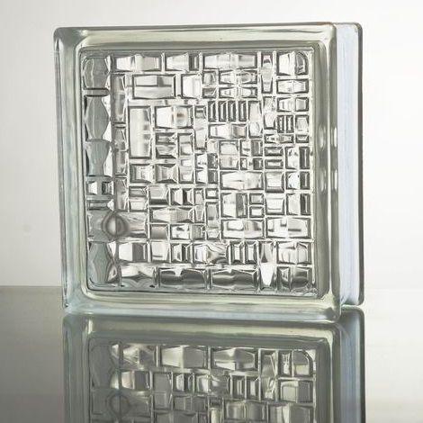 ガラスブロック 超特価 国際基準サイズ 数量は多 世界で有名なブランド品 厚み80mmクリア色モザイクgb1780