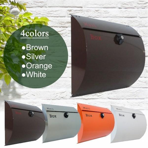 選べる4タイプ 郵便受けおしゃれかわいい人気北欧モダンデザインメールボックス壁掛けプレミアムステンレス 郵便ポストpm06-1select