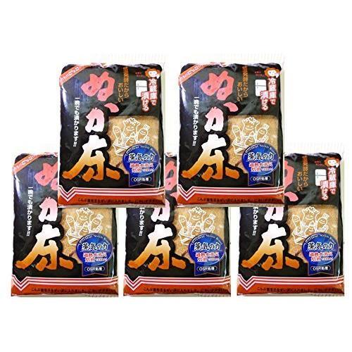 奈良つけもん屋の ぬか床 保障 プレゼント 冷蔵庫用 500g×5袋 つけもと 国内加工 送料無料 漬物