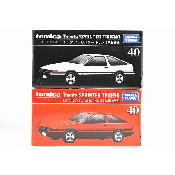 トミカ プレミアム お歳暮 高価値 40トヨタ スプリンター トミカプレミアム発売記念仕様 トレノ AE86 2台セット