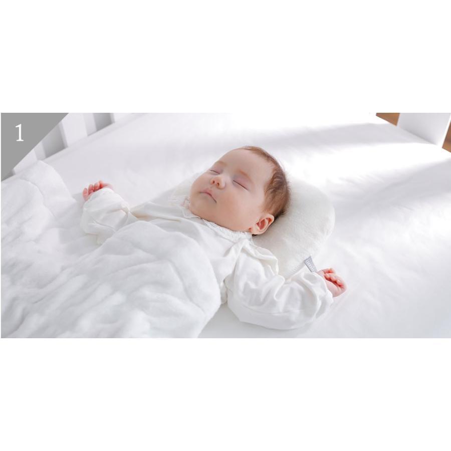 iimin ベビーピロー プレミアム 赤ちゃんの頭の形、安眠と寝心地にもこだわった枕 約 幅21×長さ27cm|iimin|03