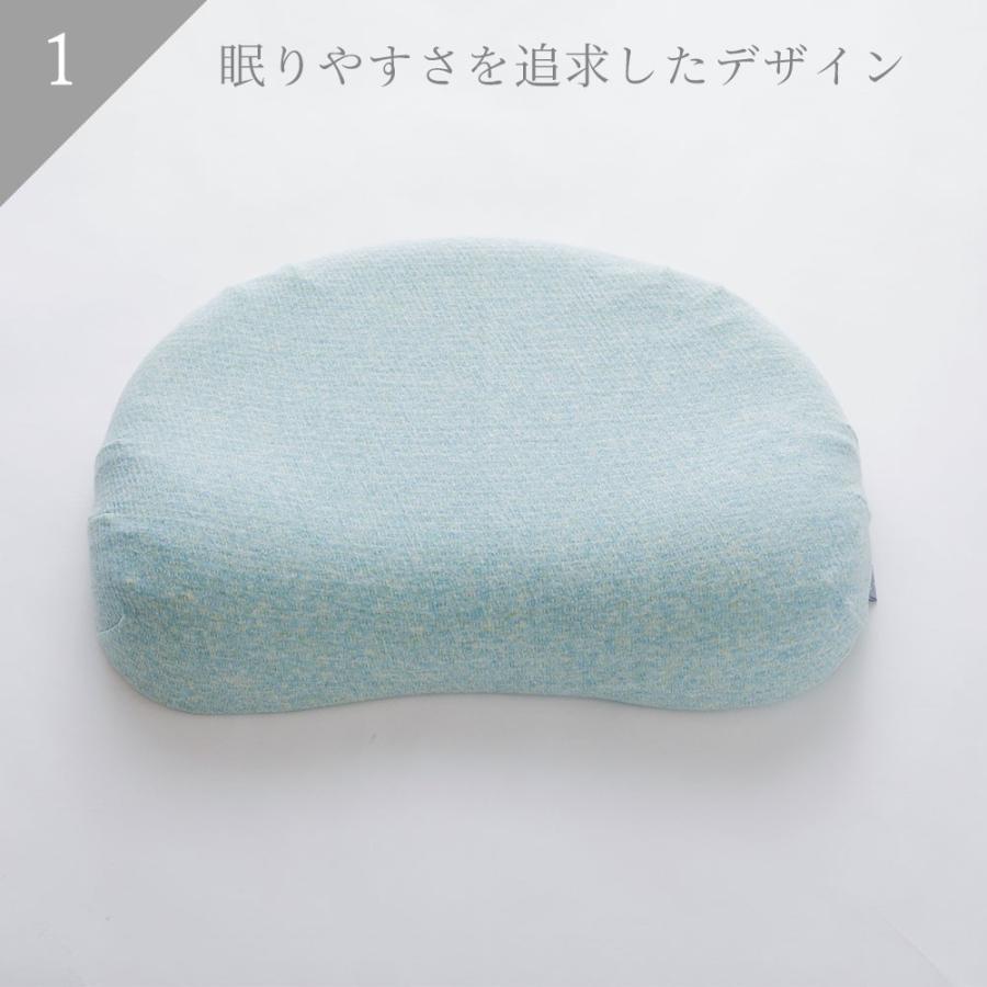 iimin レディースピロー 安心・安全、日本品質のボタニカルオーガニックコットン使用  まるでマシュマロみたいな女性向けの低反発枕|iimin|03