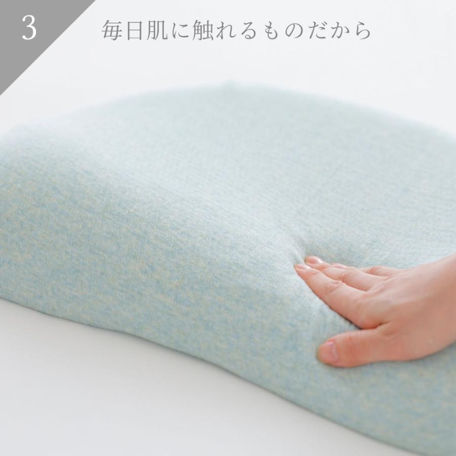 iimin レディースピロー 安心・安全、日本品質のボタニカルオーガニックコットン使用  まるでマシュマロみたいな女性向けの低反発枕|iimin|05