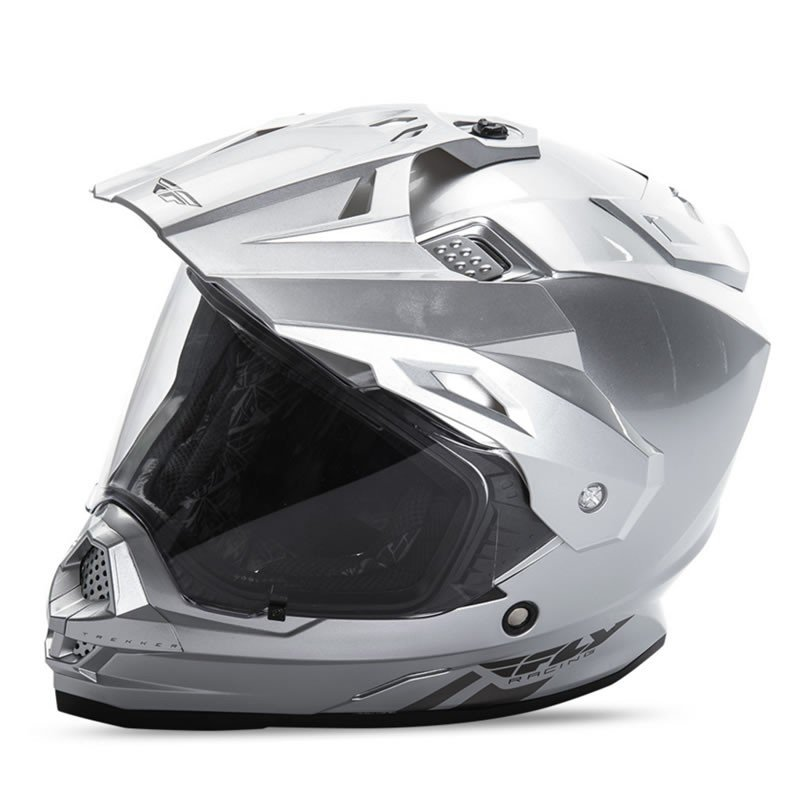 送料無料 FLY RACING TREKKER フライ トレッカー ヘルメット SILVER L PSCマーク付き正規輸入品 iimono-ya