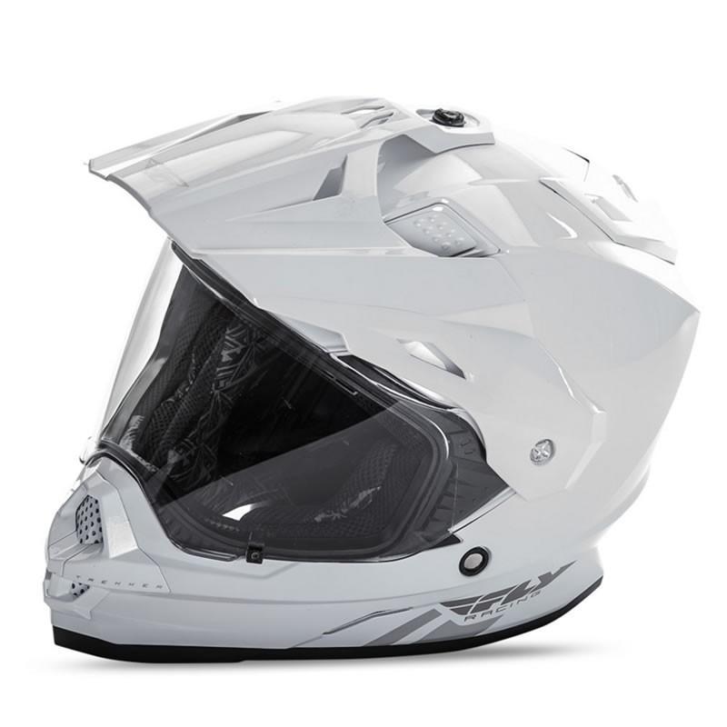 送料無料 FLY RACING TREKKER フライ トレッカー ヘルメット WHITE M PSCマーク付き正規輸入品 iimono-ya