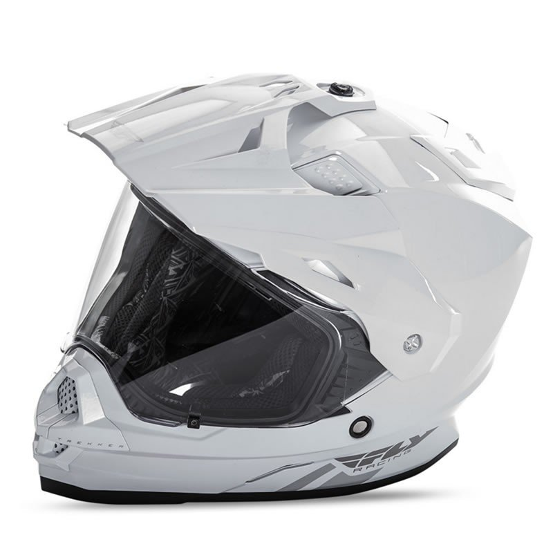 送料無料 FLY RACING TREKKER フライ トレッカー ヘルメット WHITE 2XL PSCマーク付き正規輸入品|iimono-ya