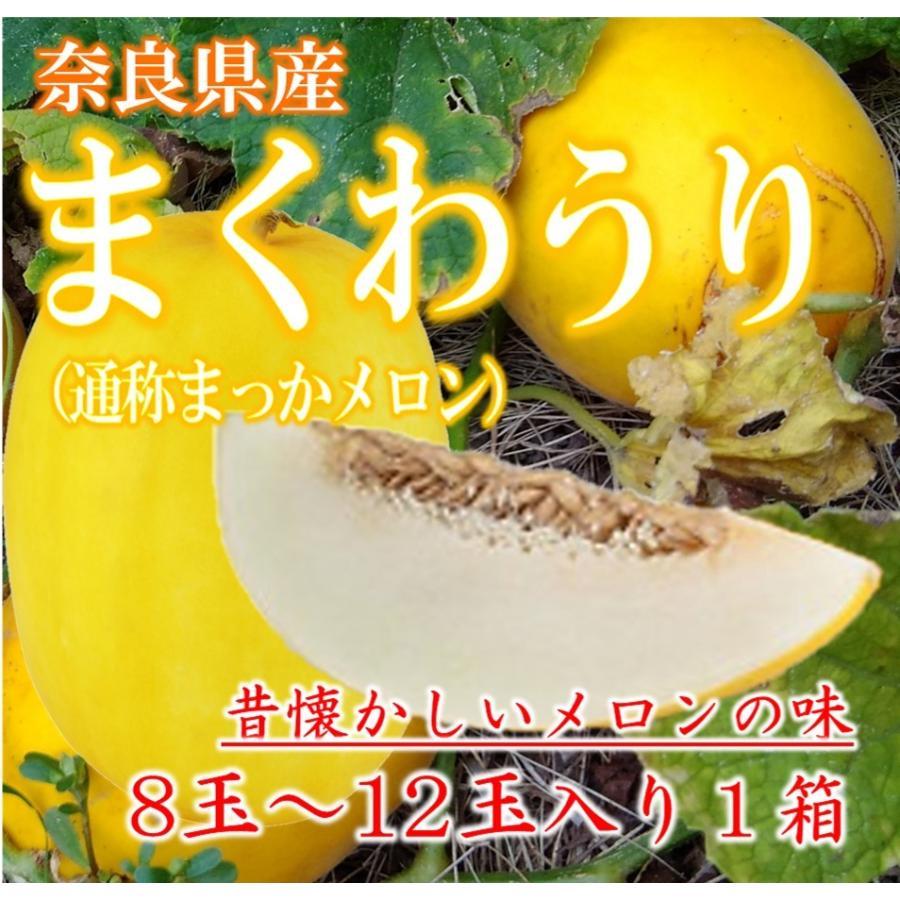 信憑 まくわうり まくわ瓜 メロン 完全送料無料 奈良県産 まっかメロン 4玉から7玉