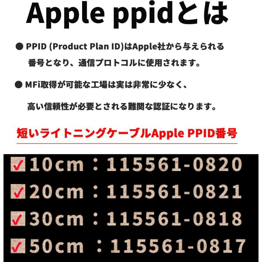 [ Apple認証済 ] 短い Lighting ケーブル FSC iPhone 充電ケーブル アップル認証 Apple iPhone 12 / iPhoneX 等 対応 10cm /20cm /30cm/ 50cm|iine-iishouhin|10