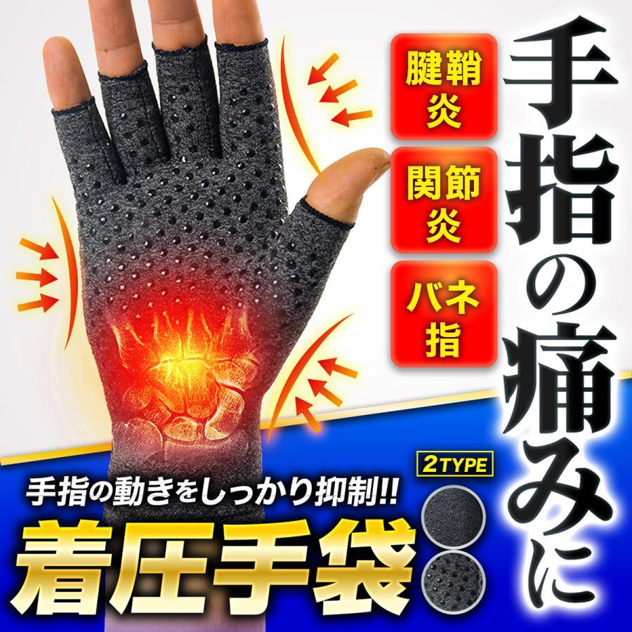 手袋 サポーター 着圧 バネ指 関節炎 人気 引き締め 手首 指なし 返品交換不可 腱鞘炎