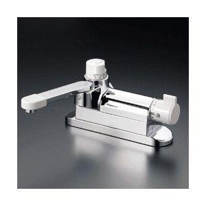 KVK 水栓金具【KM297ZG】デッキ形定量止水付サーモスタット式混合栓 寒冷地用