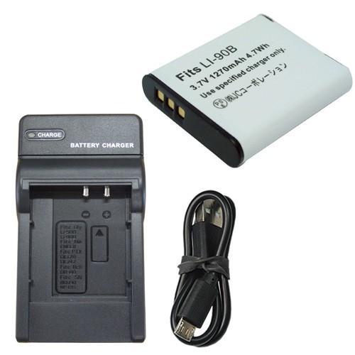 充電器セット 年末年始大決算 オリンパス OLYMPUS 半額 Li-90B Li-92B 互換バッテリー USBタイプ 充電器
